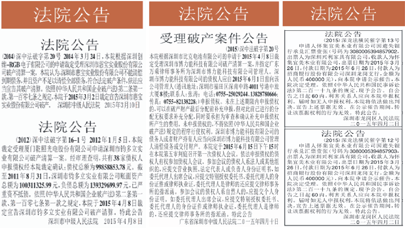 法院公告登报|深圳特区报|深圳商报|登报电话:0755-27673537